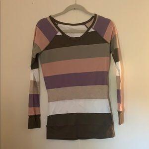 NWOT long sleeve stripes tee